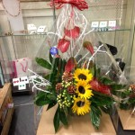 Gift wrapped arrangement £40