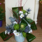 Blue Contemporary Arrangement, from £20.00. Photo £25.00