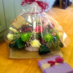 We gift wrap all our arrangements from £20.00. Photo, £40.00