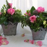 Table Centres in Galvanised Containers