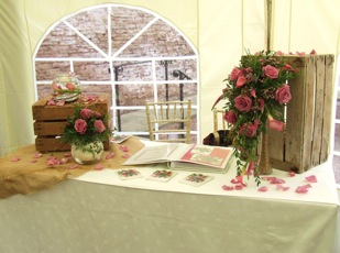 Rustic Wedding Fair Stand