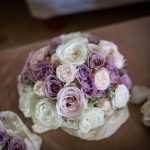 Dusky pink rose hand tied