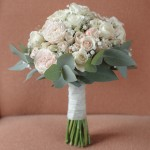 Ivory and Blush Pink Hand Tied- Ria Mishaal