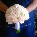 Champagne Rose hand tied bridal bouquet