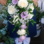 Lilac and ivory classic shower bouquet