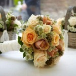 Autumn bridal hand tied bouquet