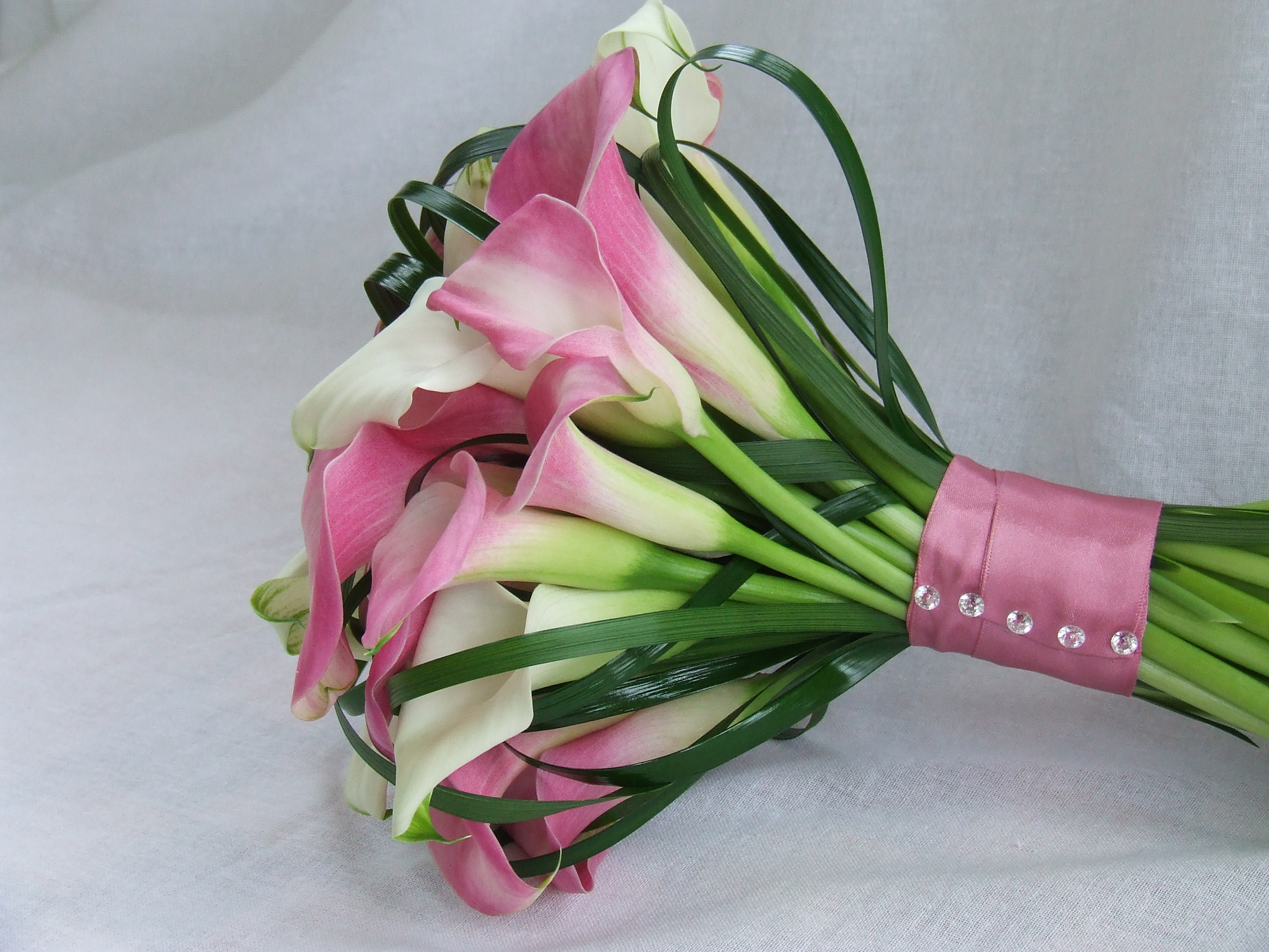 Pink Calla Hand Tied