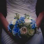 Blue Hand Tied Bridal