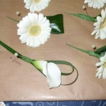 Calla and Gerbera Buttonholes