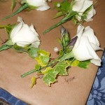 White Rose with Lisianthus Buttonhole