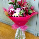 Hand Tied Aqua Packed Thank You Bouquet