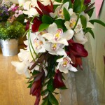 Orchid and Leucodendron Shower Bouquet2
