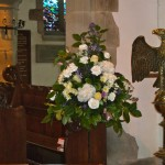 All White Pedestal Arrangement