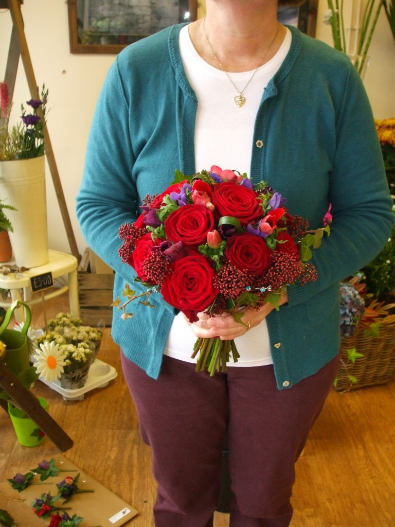 Rich Colours in November- Hand Tied Bouquet