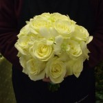 Rose and Singapore Orchid Hand Tied