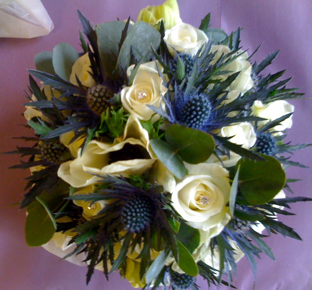 Blue and White Winter Hand Tied