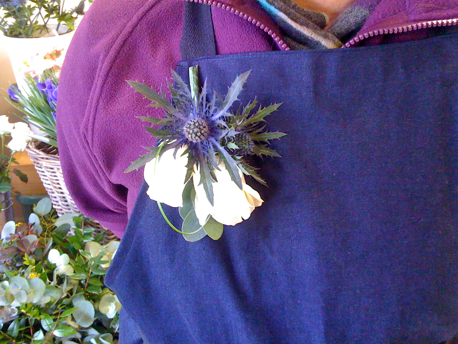 Rose and Thistle Corsage