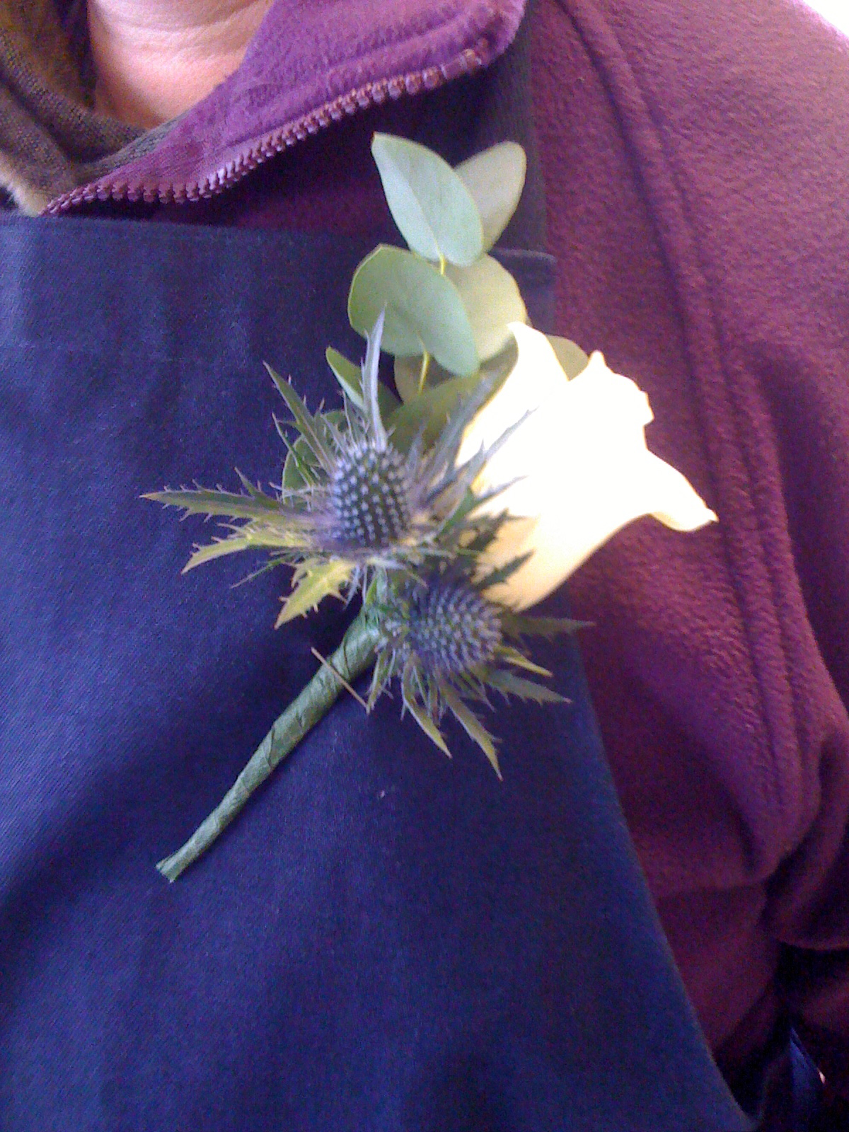 Rose and Thistle Buttonhole