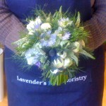 Blue Wild Flower Hand Tied
