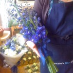Delphinium Over Arm Bouquet