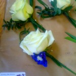 Rose and Delphinium Buttonhole