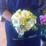 Yellow and White Hand Tied