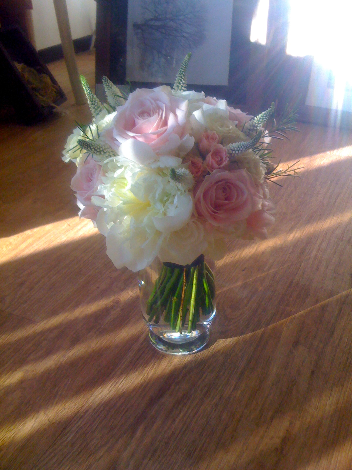 Pink and White Country Hand Tied
