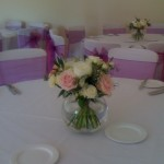 Pink and White Table Posy2