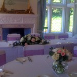 Pink and White Country Table Flowers