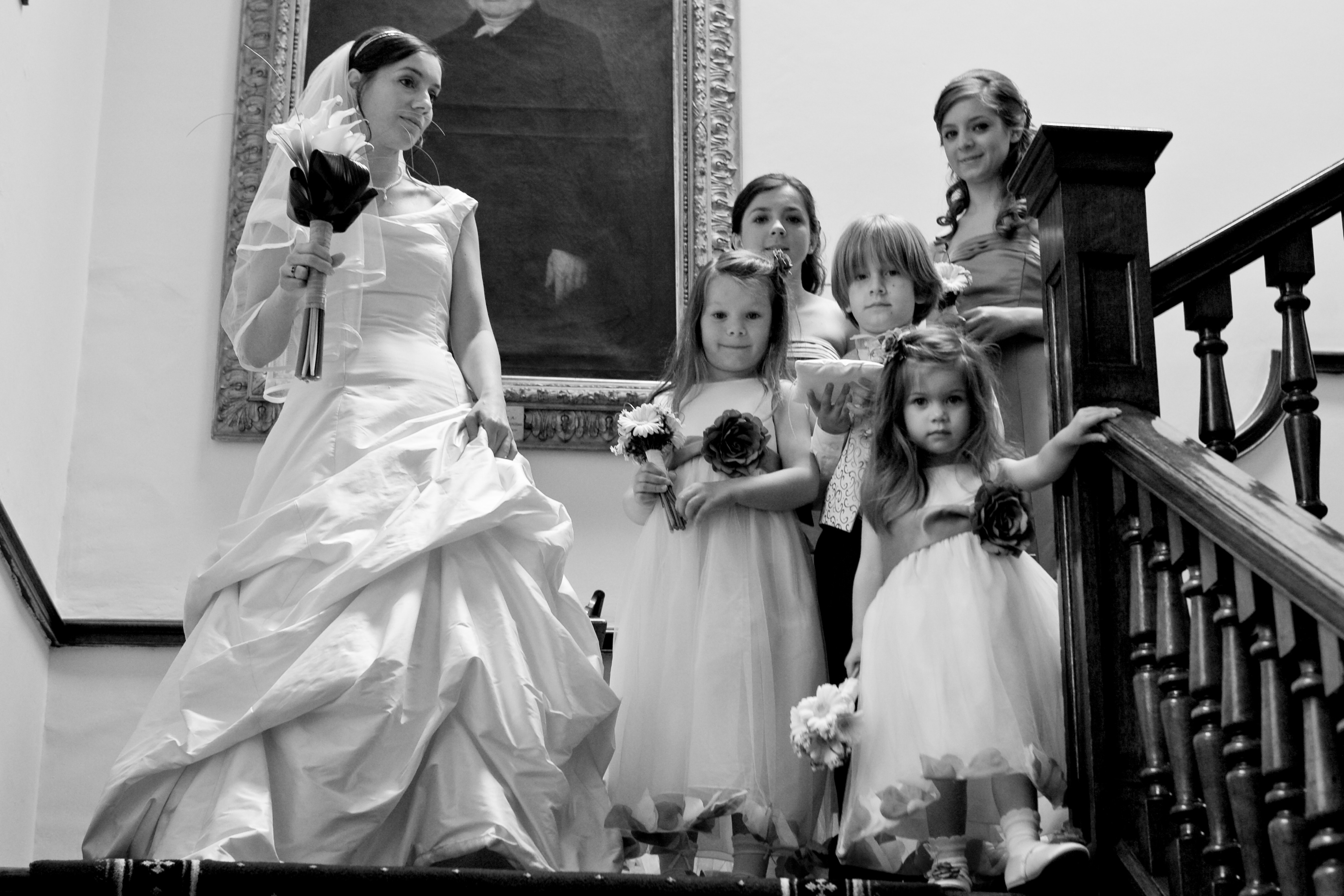 Bridal Party- Calla Lily Bridal Bouquet and Gerbera Flower Girls