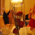 Tall Table Centre- Winter Red Roses