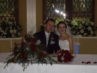 Red and Silver Winter Wedding