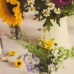summer meadow table centre