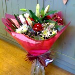 Mixed bouquet with red Roses £45